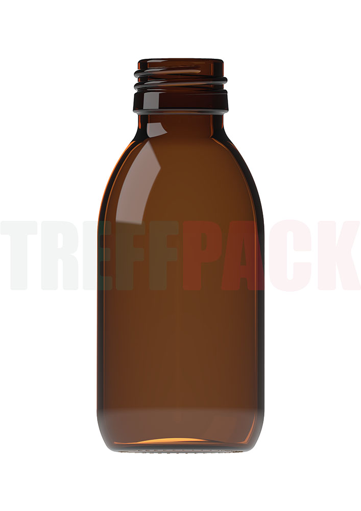 Sirupflasche Typ 3 braun 125 ml