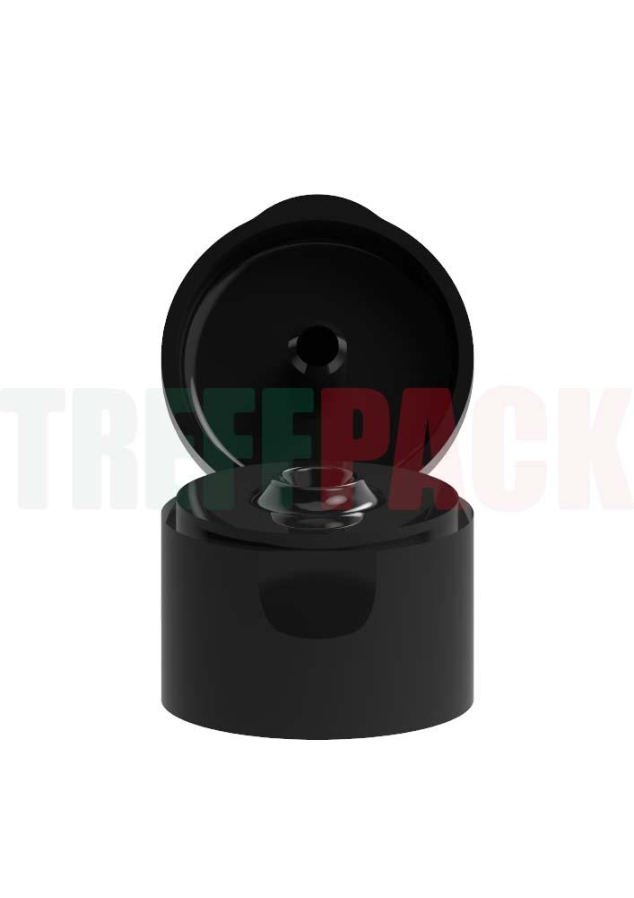 Flip Top 24/410 schwarz PP 3,1 mm